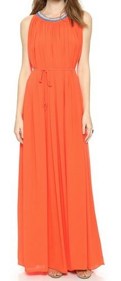 maxi dress with a beaded neckline  http://rstyle.me/n/tph6hpdpe