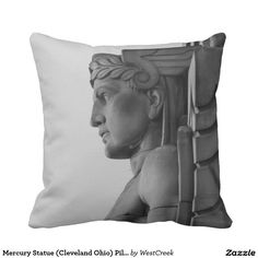 Mercury Statue (Cleveland Ohio) Pillow