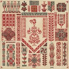 Palestinian Embroidery Patterns Projects Embroidery From Palestine An Instr. Diy Embroidery, Cross Stitch Embroidery, Embroidery Patterns, Embroidery Tattoo, Cross Stitch Designs, Cross Stitch Patterns, Couching Stitch, Cultural Crafts, Palestinian Embroidery