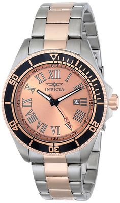 Invicta Men's INVICTA-15001 Pro Diver Two-Tone Rose Gold-Plated Stainless Steel Watch *** New and awesome product awaits you, Read it now  : Sports Fitness Clothing