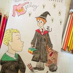 "#PotterWeekPrompts Day 2: ""must be a weasley"" from @taryndraws ✨ #RonWeasley #DracoMalfoy #MustBeAWeasley #Weasley"