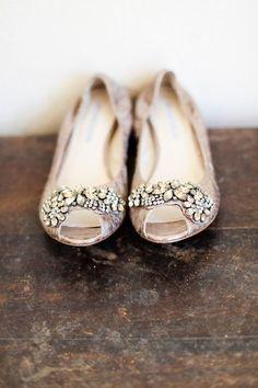 bejeweled wedding flats.