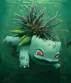 Sea anemone Bulbasaur loves to swim
