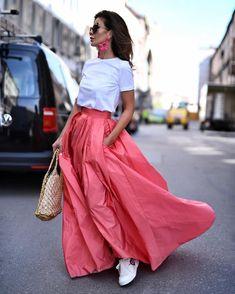 Long skirt via RepostBy @shortstoriesandskirt