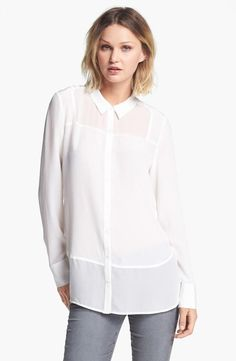 Perfect tonal panels on this silk blouse.