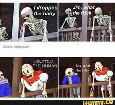 undertale isn't the other skeleton supposed to be leaning back? I mean... look at Sans' arms xDD it's killing meeeee xD