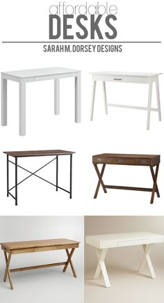 sarah m. dorsey designs: Affordable Finds | Desks