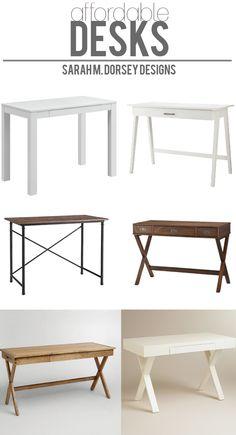 sarah m. dorsey designs: Affordable Finds | Desks