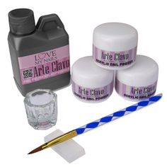 ARTE CLAVO Pro Acrylic Powder Brush Pen Liquid Nail Art Tips 3D Mold Kits N031 * This is an Amazon Affiliate link. Click on the image for additional details.