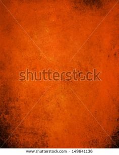 abstract orange background or halloween autumn background color design with vintage grunge background texture - stock photo