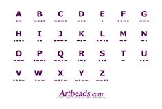 A Morse Code Chart from Artbeads.com, a handy reference for adding Morse Code message to jewelry!