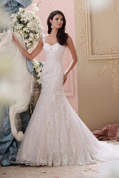 Wedding gown by David Tutera for Mon Cheri