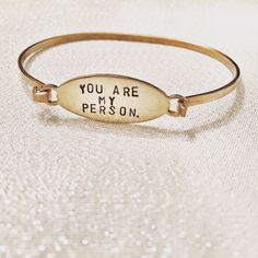 You are my Person Bracelet - Grey's Anatomy Bracelet