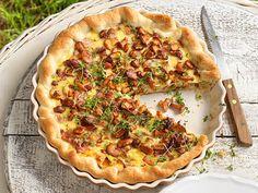Herbstliche Rezeptideen von Tante Fanny - eierschwammerl-quiche  Rezept Quiche, Vegetable Pizza, Vegetables, Breakfast, Winter, Recipes, Food, Pies, Harvest Season