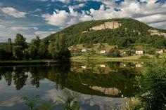 the doubs river near baume les dames france