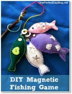 magnet fishing toy...cute idea...cute fish..free tute!