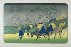 Utagawa Hiroshige - The Sixty-nine Stations of the Kiso Kaidō - Kutsukake