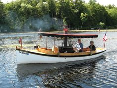 Steam boats built at Rappahannock Boat Works. Motor Cruiser, Steam Boats, Narrow Boat, Classic Wooden Boats, Electric Boat, Beyond The Sea, Boat Stuff, Steamers, Canoes