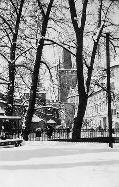 Prague of yesteryear. Courtesy of Vilém Heckel Archive Beautiful Places In The World, Most Beautiful, Czech Republic, Prague, Perfect Place, Archive, Black And White, Retro, City