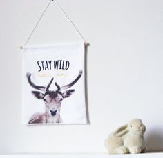Hey, I found this really awesome Etsy listing at https://www.etsy.com/listing/256083918/wall-banner-stay-wild-kids-wall-banner