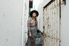 Lootsin Loots - H&M Hat - Shear embroidery Shearing, People Around The World, Parisian, Indie, Sequin Skirt, Style Inspiration, Embroidery, Skirts, Vintage