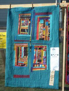 freeform log cabin quilt