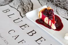 Cappuccino and cheesecake is a must at Blueberry Cafe.