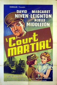 "Court Martial (1955) ""Carrington V.C."" (original title) Stars: David Niven, Margaret Leighton, Noelle Middleton ~  Director: Anthony Asquith (Nominated for 5 BAFTA Awards 1955)"