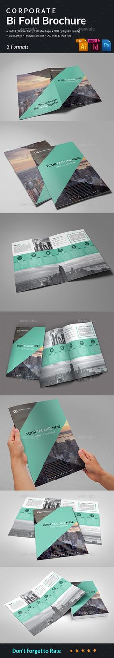 Corporate Bi Fold Brochure Template PSD, InDesign INDD, AI Illustrator. Download here: http://graphicriver.net/item/corporate-bi-fold-brochure/16150268?ref=ksioks