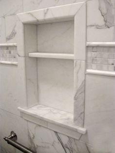nice shower enclosure idea luxury master bathroom remodeling ideas white marble | ... of Tile Bathrooms 5 of 5-Leo Cormier Tile Design & Installation