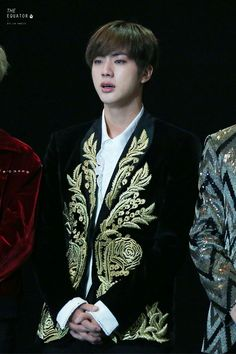 Jin ❤ BTS at MAMA 2016 (161202) #BTS #방탄소년단  How can he even look this good crying??