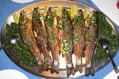 Grilled Fish, Asparagus, Grilling, Vegetables, Menu, Food, Menu Board Design, Crickets, Veggies