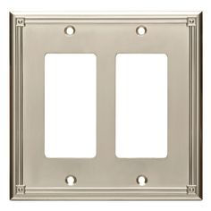 Lowes Wall Plates Captivating Brainerd Upton 2Gang Satin Nickel Double Decorator Wall Plate
