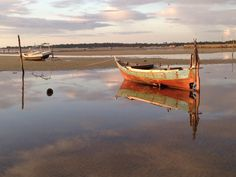 Low tide on West Belitung Beach, Belitung Island, Indonesia