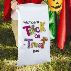 Halloween Trick Or Treat Sack #halloween