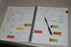 Use post-it tabs for projects on the monthly calendar then actually write on the completed date. No more messy calendars!