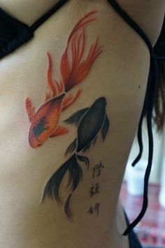 Stickychopsticks13's Watercolour fish tattoo by Marie Melou at Otautahi Tattoo, Auckland