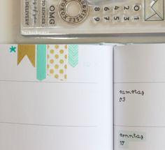 kalender 2016   bastelstunde   lackschwarz   odernichtoderdoch.de   gold türkis   washi tape   quotes