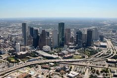 Downtown Houston Skyline, Houston, Texas - Houston Aerial Photographer Image