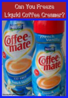 Can you freeze liquid coffee creamer? - Yes. To freeze: shake bottle to mix, divide into week's worth amt., seal in jars/freezer storage bags/etc.; date, freeze. There is no need to remove any creamer from the bottle before freezing if you are going to use within a week's time. It is good for 4-6 mo. after freezing. To use: place in refrigerator to thaw.  It takes about a day for a bottle. Shake before each use to be certain it is mixed. Use within 5-7 days after thawing.