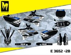 E 3652 YZ — Moto-StyleMX - Premium manufacturer of quality decals Yamaha Yz 125, Decals, Graphics, Tags, Charts, Graphic Design, Decal