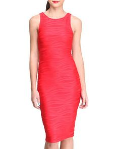 Love this Wave Textured Midi Sheath Dress by Almost Famous on DrJays. Take a look and get 20% off your next order!