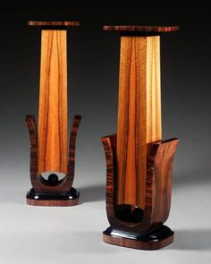 a pair of art deco rosewood veneered and ebonised wood plinths, circa 1930 Woodworking School, Woodworking For Kids, Beginner Woodworking Projects, Woodworking Techniques, Woodworking Wood, Woodworking Hacks, Woodworking Classes, Woodworking Inspiration, Unique Woodworking