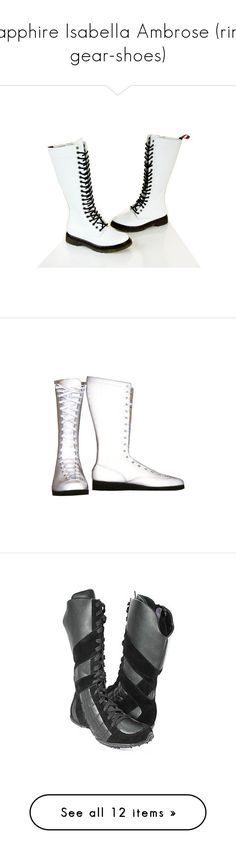 """Sapphire Isabella Ambrose (ring gear-shoes)"" by harlie-timmons ❤ liked on Polyvore featuring men's fashion, men's shoes, men's boots, shoes, mens boots, mens lace up shoes, mens shoes, mens goth boots, mens combat style boots and wrestling"