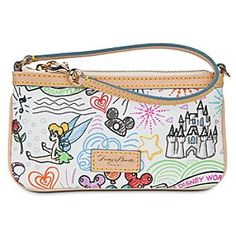 Disney Sketch Wristlet by Dooney & Bourke Handbags, totes and accessories from Dooney & Bourke that are found at Disney Parks. http://disneydb.blogspot.com/