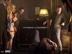 """I'm makin' a statement"" - Zakazane imperium / Boardwalk Empire"