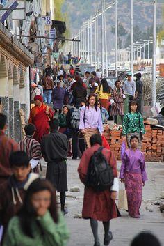 Streets of Thimphu, Bhutan