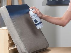 Refresh your outdoor fabric with Rust-Oleum Outdoor Fabric Paint and give your patio cushions, umbrella, and more a new look in minutes without the need to replace what you already have! Camper Cushions, Patio Chair Cushions, Outdoor Cushions, Outdoor Fabric, Best Spray Paint, Before And After Diy, Outdoor Couch, Outdoor Decor, Rain Barrel