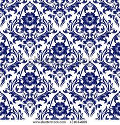 Damask Wallpaper Design Elements Flower Backdrop
