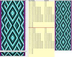 40 hexagonal cards, 5 colors, repeats every 24 rows, GTT༺❁ Inkle Weaving, Inkle Loom, Card Weaving, Weaving Art, Tablet Weaving Patterns, Finger Weaving, Willow Weaving, Tapestry Crochet, Fiber Art